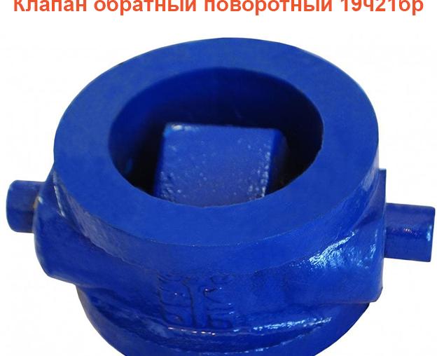 Клапан обратный поворотный 19ч21бр