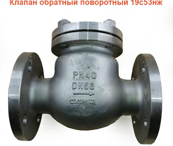 Клапан обратный поворотный 19с53нж