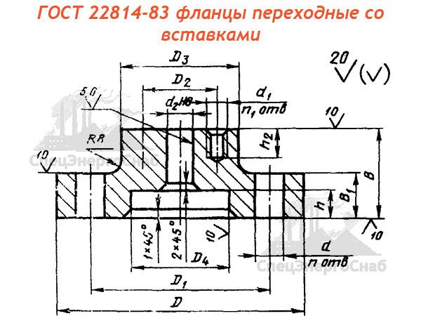 ГОСТ 22814-83 фланцы переходные со вставками